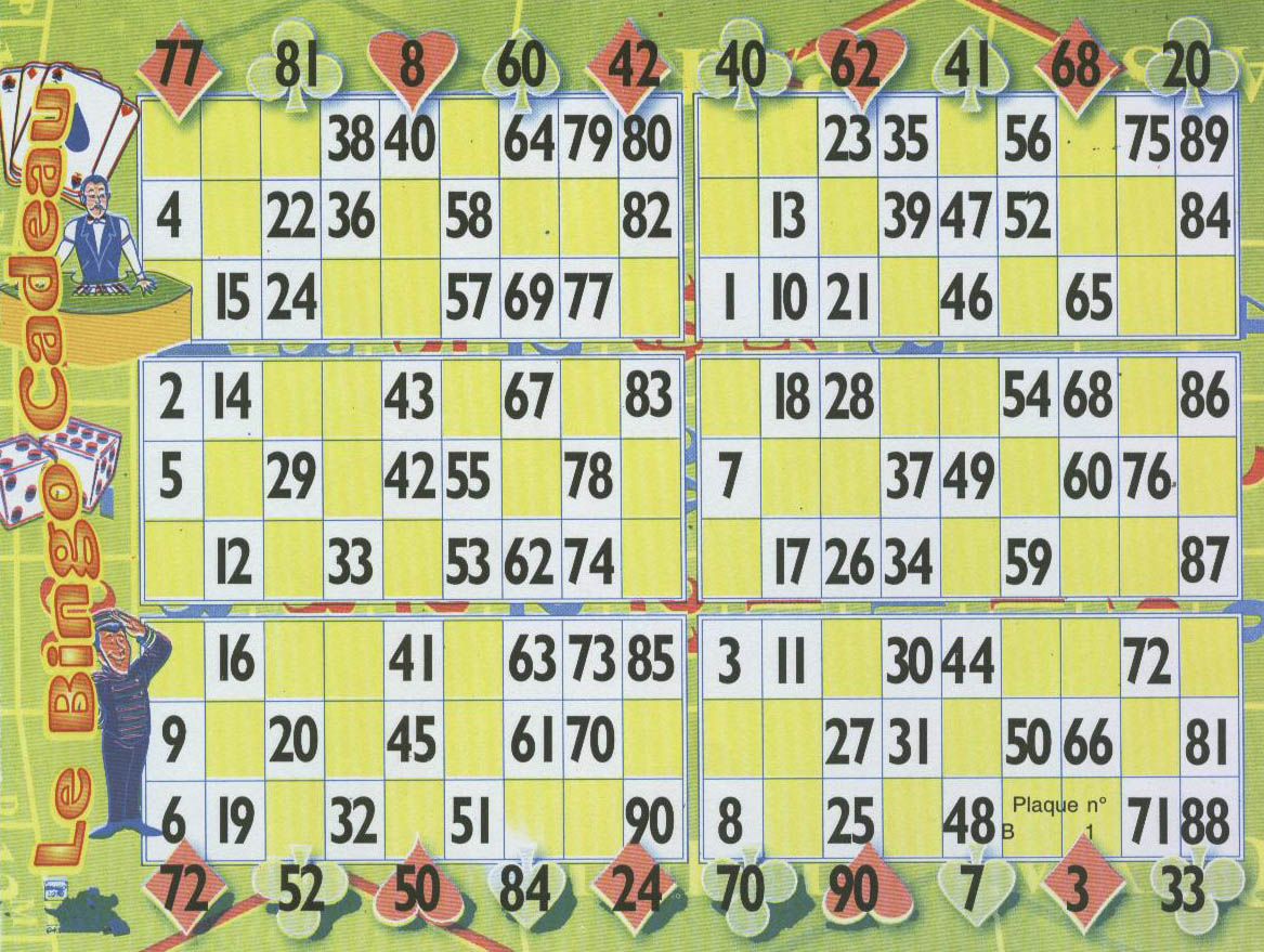 Partie sp ciale loto le bingo cadeau bingoloto tout pour vos lotos - Grille de bingo a imprimer gratuit ...
